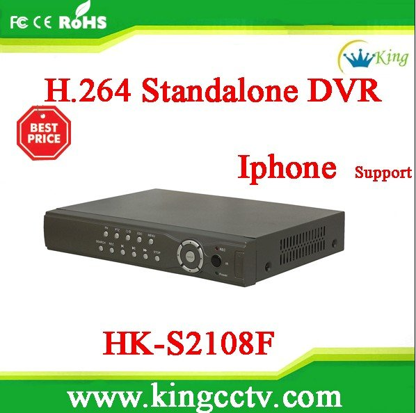 HK-S2108F RoHS HD Manual standalone 8CH H.264 Realtime Network DVR