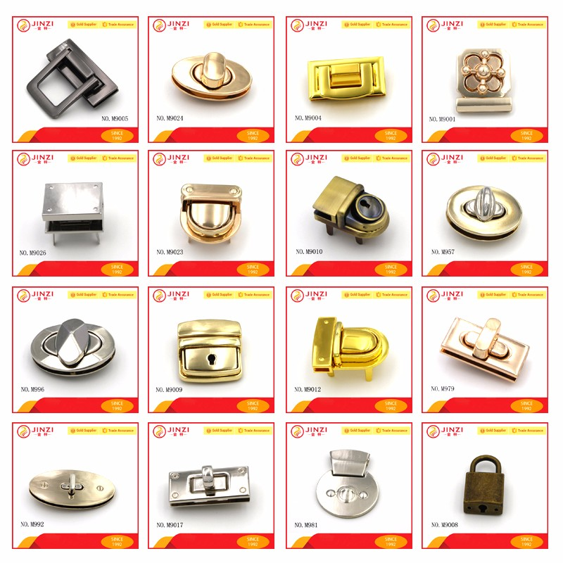 Bag Hardware Accessory Purse Lock Clasp Hinge Or Twist