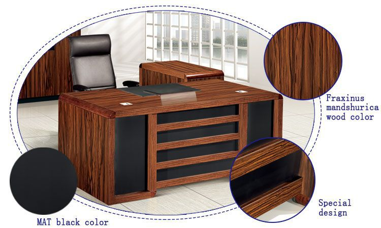 unfinished wood furniture wholesale wooden material curved office desk