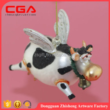 Christmas decorations item type cow shape glass Christmas tree ornament wholesale 2016