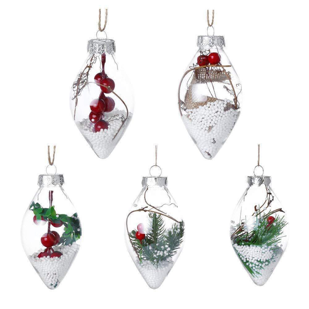 Christmas Ball Ornaments,Shatterproof Christmas Decorations Tree Balls for Holiday Wedding Party Decoration,Tree Ornaments Hooks Tree Pendant Hanging