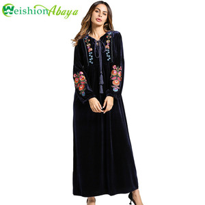Moroccan Tunic Plus Size Muslim Women Clothing Fancy Embroidered Abayas