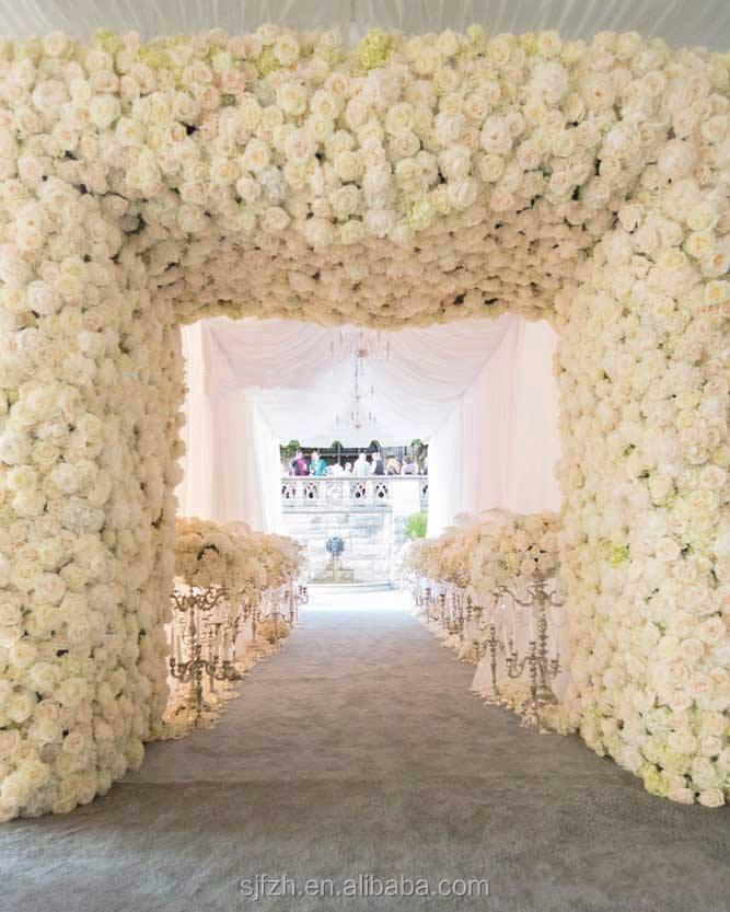White artificial flower wall wedding decoration with plastic orchid white artificial flower wall wedding decoration with plastic orchid blossom junglespirit Choice Image