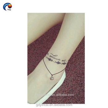 Simple Word Sticker Body Tattoo,Temporary Custom Design With Amazing ...