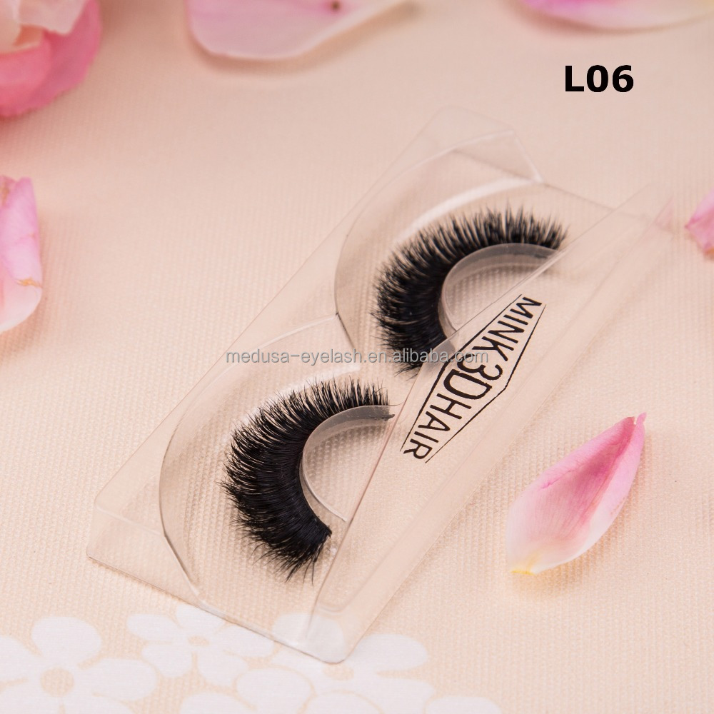 Premium quality hot sale european style hand made full strip human hair wholesale mink eyelash