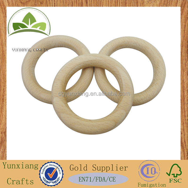 hot sale wooden baby tooth ring/food grade wood ring