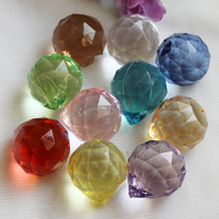 Wholesale Clear Faceted Acrylic Crystal Ball For Crystal Chandelier In Various Size And Color