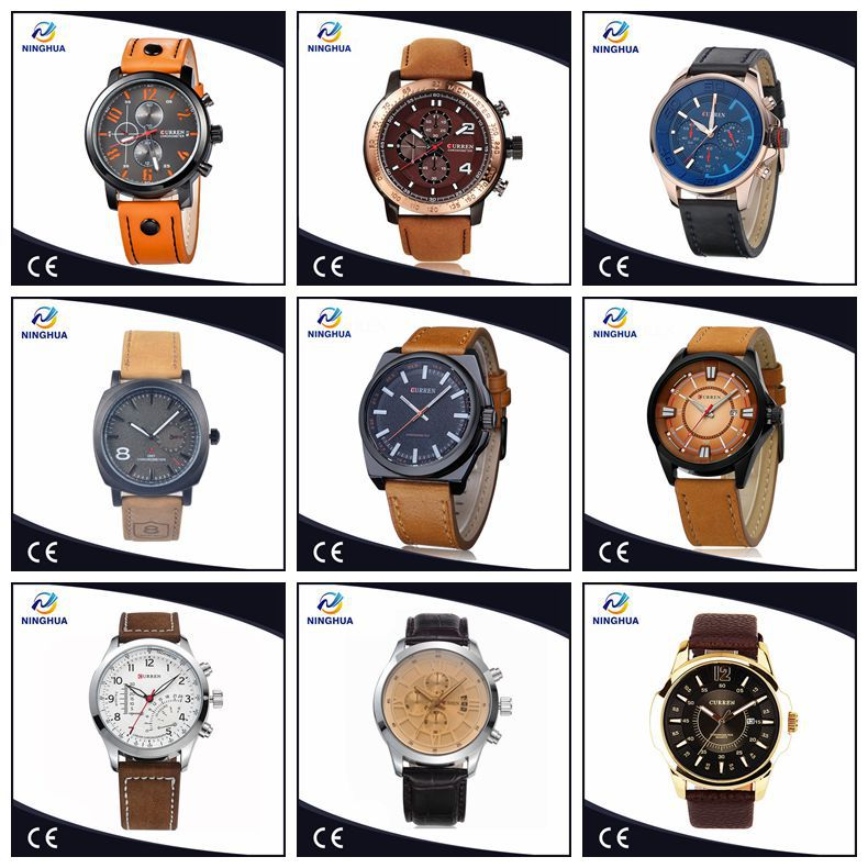 b920b00a2433 Curren M8060 Newest Design Men Simple And Stylish Leather Band Analog  Quartz Watch Fashion Roman Date