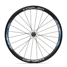 Durable And Economic Price YOELEO SAT U Shape 38mm Blue Tubular 25mm Wide Chinese Carbon Wheels Sapim CX-Ray Disc Brake