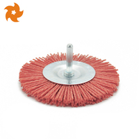 High Quality New customization OEM Abrasive bristle grinding drill nylon disc brush