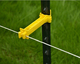 Snug T-Post Insulator Extended for electric fencing