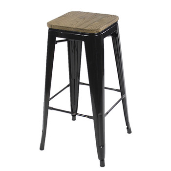 Terrific Wholesale Cheap Furniture Black Commercial Industrial Iron Bar Stool Top With Wood Board Bar Chair Buy Bar Stool Bar Chair Industrial Iron Bar Stool Machost Co Dining Chair Design Ideas Machostcouk