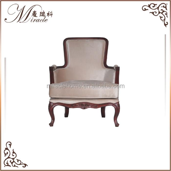 Real marco de madera antigua de madera sillón-sillas antiguas ...
