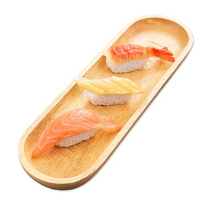Bamboo Japanese Sushi Plate Creative Hotel Supplies Tableware Plate Shaped  Plate Cute Dish