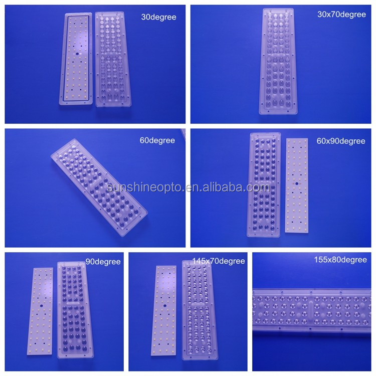 64 in One Square 3030 SMD LED Module Lens with Wide angle 80x150 degree