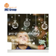 Custom PVC glass christmas window/wall sticker and decoration 2017