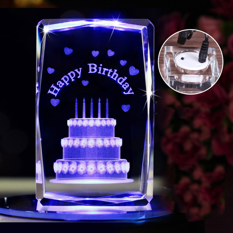 Supply 3d laser etched crystal glass cube for laser machines engraving
