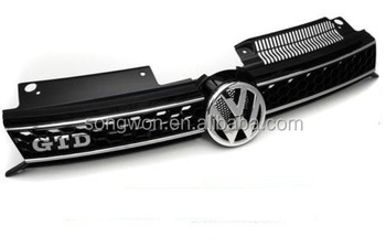 Auto Parts Front Grille For Vw Golf 6 Gtd With Top Quality - Buy Abs  Material Vw Golf 6 Gtd Front Grille,Vw Car Front Grill,Car Front Grill For  Golf 6