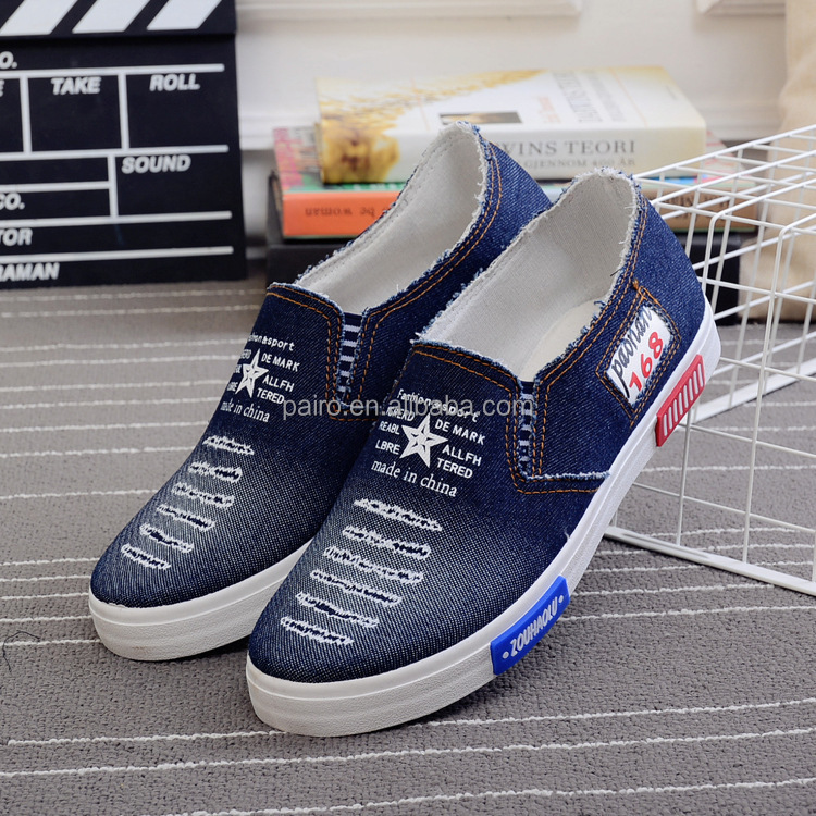 Wholesale slip on casual canvas shoes men for sale from china