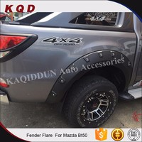 Abs plastic parts pick up truck 4x4 wheel arch fender flares accessories for mazda bt-50