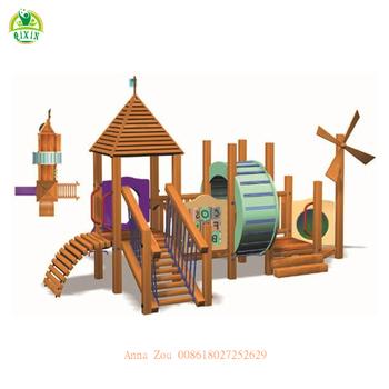 Windmill Style Kids Wooden Playgroundbeautiful Outdoor Playground Partsfree Preschool Games For Kids Qx B2202 Buy Wooden Playgroundoutdoor