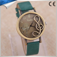 Fashion Vintage Piano Musical Note Wrist Watch for Women Ladies Casual Retro Leather Clock Relogio Quartz Wristwatch LW023