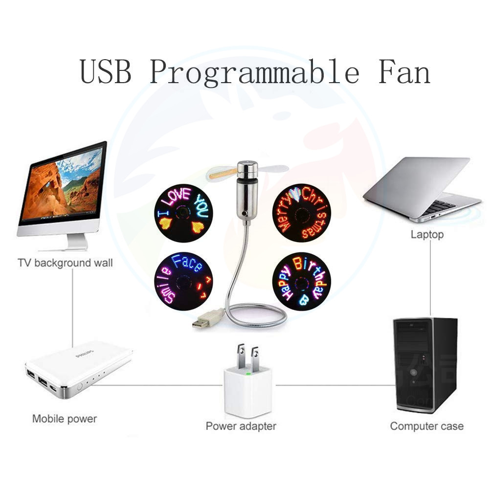 Summer World Cup Choose USB Portable Mini LED Hand Fan with Flashlight Portable USB Mini Electric Table Fan