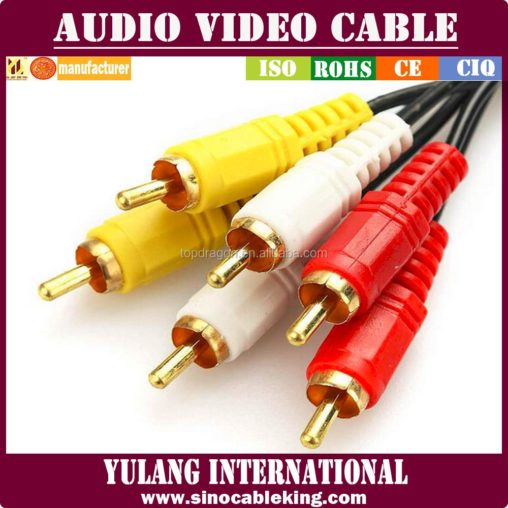 cheapest 3rca cable/lead/cord for dvd player/stb/vcr audio video imput&output
