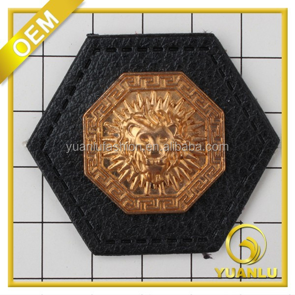 custom design patch garment metal label iron on patches on clothing