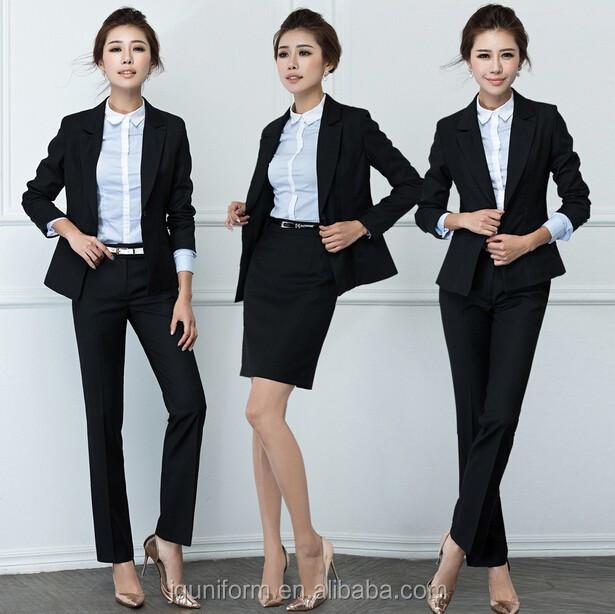 custom fashion women office pants suits women office