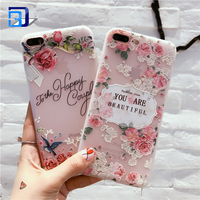 For iPhone 7 Plus Case with flowers, Slim Shockproof Clear Floral Pattern Soft Flexible TPU Back Cover For iPhone 7 Plus Case
