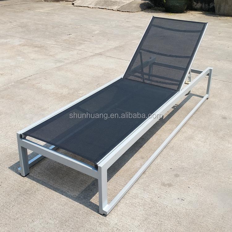 Outdoor Chaise Lounger Rattan Aluminum Beach Sun Chair