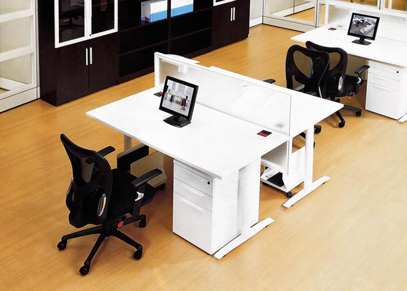 Dual Workstation Office Furniture DeskDouble To Face