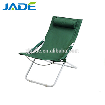 Foldable Low Seat Beach Sun Chair Lightweight Relax Folding Deck With Pillow