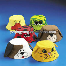 Novelty plush animal design hat toy for kids