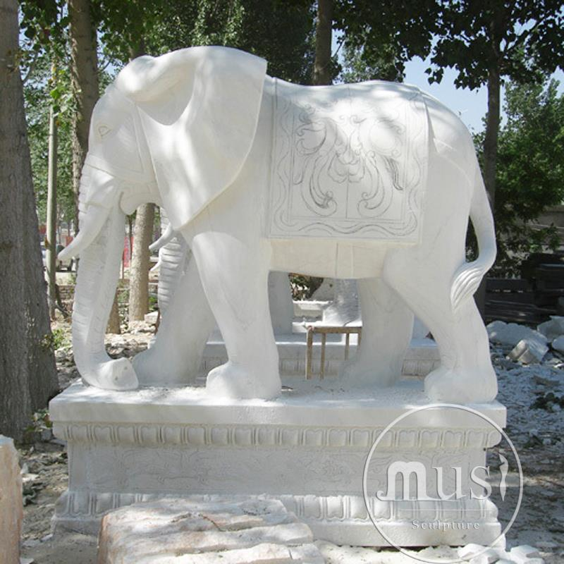 Marble Animal Sculpture stone elephant statues garden ornament