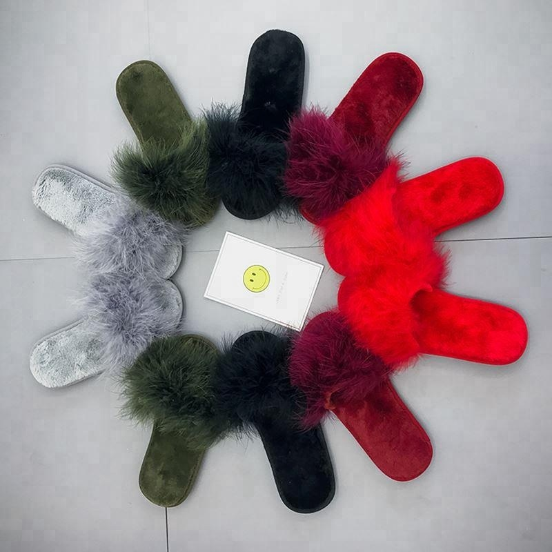 Best Selling Fashion Feather Flat <strong>Slippers</strong>