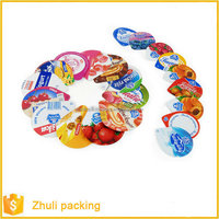 PET/VMPET/PE laminated jelly cover film in roll