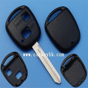 2 Buttons Remote Key Shell for Toyota Yaris Avensis Key Case Fob TOY47 no logo