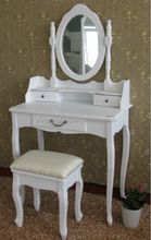 MDF White Dresser Table with Mirror
