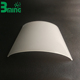 Big Shape Led Light Diffuser Cover Extruded PC Profiles Led Lamp Housing For Troffer