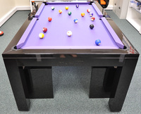 2016 new design 7ft 8ft pool table and dinner table combo