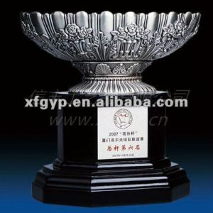 Popular Large bowl Metal Plate Trophy cup,UAE