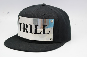 5f584d2a Simple Design Custom Logo Flat Brim Metal Plate Cap Snapback Hat - Buy  Plate Snapback Hat,Metal Plate Snapback Cap,Gold Plate Snapback Cap Hat  Product ...