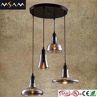 Modern art glass chandelier,decorative glass oil lamp bottle shade