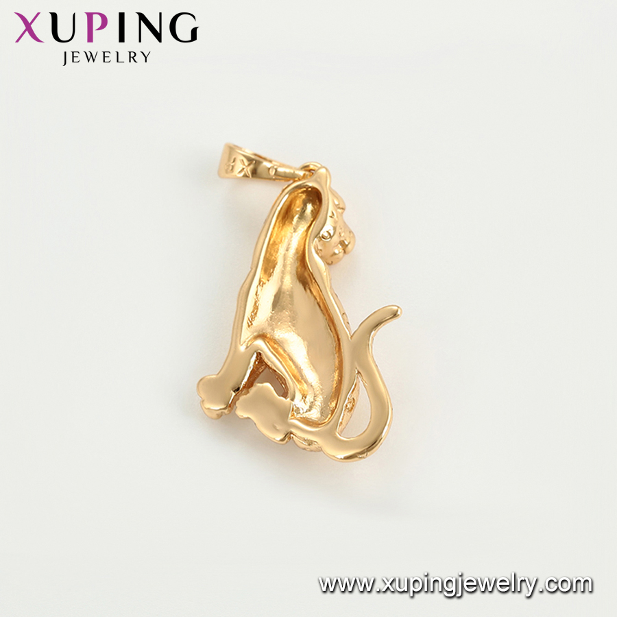 34449 Xuping wholesale copper alloy jewelry cheetah trendy animal pendant without stone