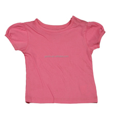 Factory Wholesale Simple Baby Clothes T shirt Baby Girl T Shirt