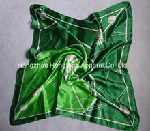 pure Satin Silk Scarf with custom logo