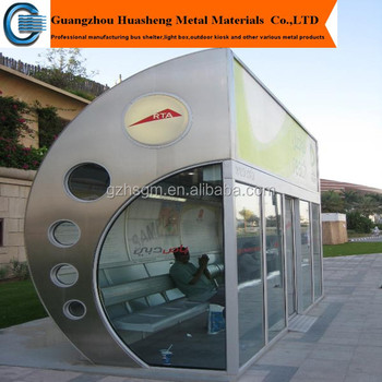 Air Conditioned Bus Stop Shelter With Automatic Door Buy Bus