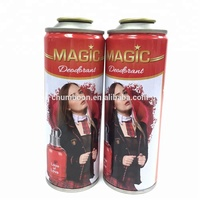 aerosol tin can for body spray perfume
